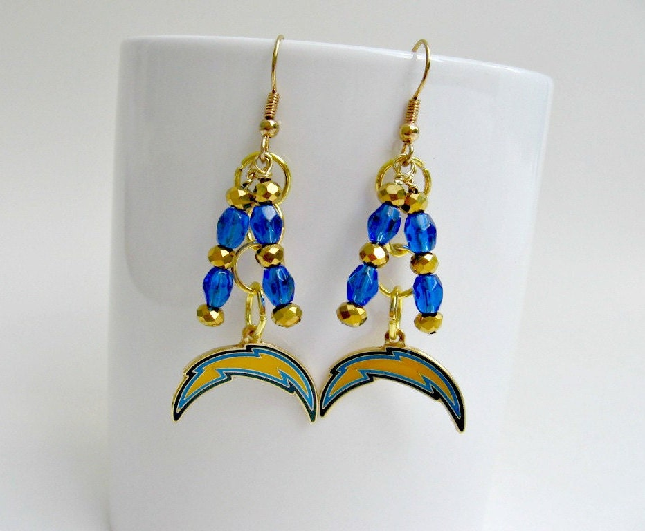 San diego chargers earrings san diego chargers jewelry san for Used jewelry san diego