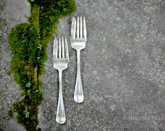 2 Silverplate Serving Forks by American Silver. Vintage. Holidays. Thanksgiving Turkey. Flatware. Dining. Holidays. Classic. Meat Fork. Set.