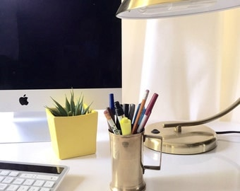 Brass Pencil Cup / Pencil Holder / Desk Accessory