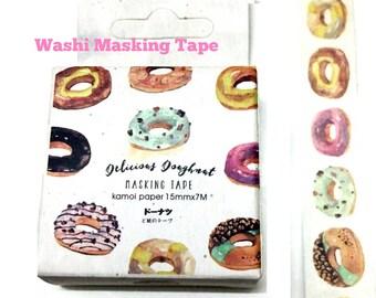 Doughnut Washi Tape - Paper Masking Tape 15mm ×7m