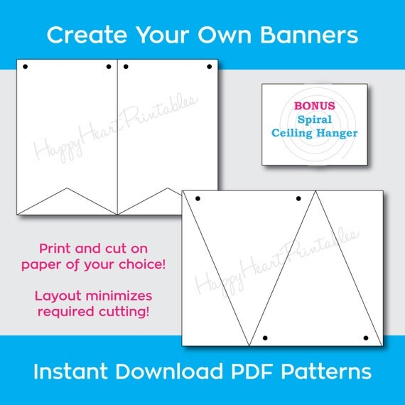 Printable Banner Pattern Banner Template Create your own