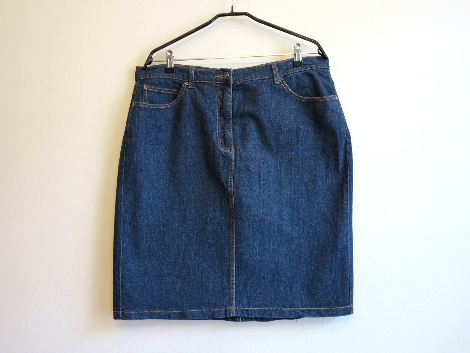 navy blue skirt high waisted jean skirt denim skirt denim