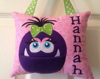 Personalized Monster Tooth Fairy Pillow for Girls