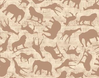 Safari Fabric - Wisdom of the Plains by Tara Reed for Quilting Treasures  - 24281 E Cream - 1/2 yard