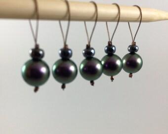 Handmade Swarovski Pearl Stitch Markers