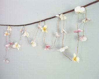 Whimsy Flower Garland | Wedding Flower Garland | Boho Flower Garland | Hydrangea Flower Garland | Rustic Wedding Garland | Floral Garland