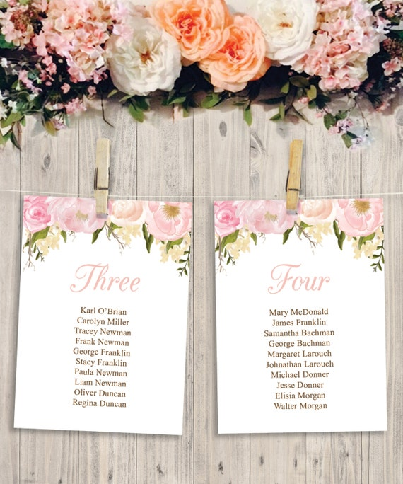 Permalink to Free Printable Wedding Seating Chart Template
