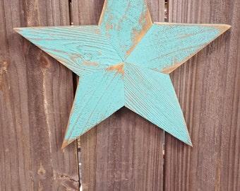 Medium Rustic Reclaimed Wood Star Wall Hanging