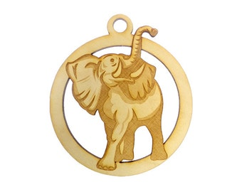 Lucky Elephant Ornament - Elephant Christmas Ornament - Elephant Gift Topper - Elephant Ornaments - Elephant Gifts - Personalized Free