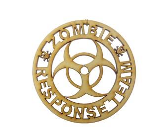 Zombie Ornament - Zombie Ornaments - Zombie Response Team - Zombie Gift -  Zombie Gifts - Zombie Decor - Zombie Apocalypse - Gothic Ornament