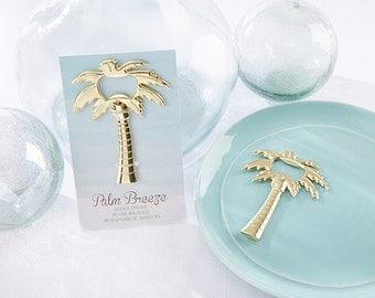 Wedding Favor Tropical Gold Palm Tree Bottle Opener