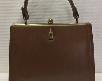 Doron France Handbag, 1950s,1960, Purse, Brown, Bag