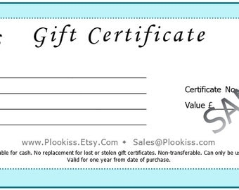 Gift Certificate, Last Minute Present Idea, Small Filler Gift, Thank You Gesture, Female Birthday Token, Electronic Voucher, Holiday Gift