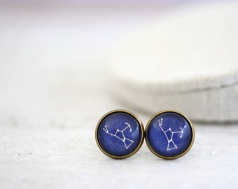 Orion Earrings, Orion, Orion Constellation, Orion Studs, Constellation Jewelry, Space Earrings, Galaxy Studs, Constellation Earrings, Stars
