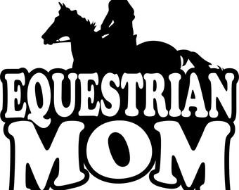Equestrian Mom Hoodie/ Equestrian Mom Sweatshirt/ Equestrian Mom Clothing/ Equestrian Mom Gift/ Boy Rider Equestrian Mom Hoodie Sweatshirt