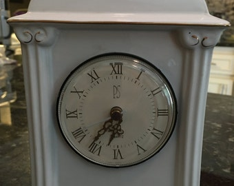 PS Mantle Clock - Porcelain and Collectibel