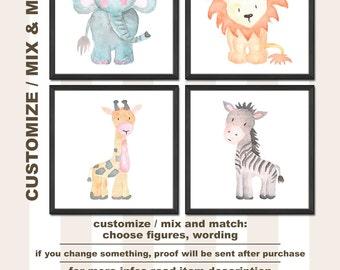 safari animal prints, safari nursery decor, safari baby animal nursery, zoo animal nursery, jungle nursery decor PRINT/CANVAS/DIGITAL