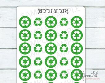 Recycle sticker -J449 -tiny minimes stickers
