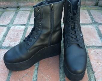 YRU Leather Platform Boot