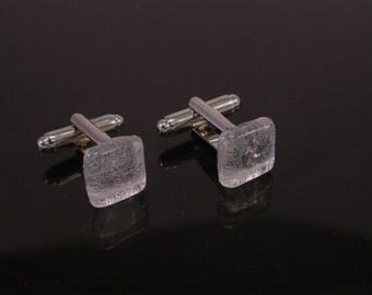 Murano Glass Cufflinks, Dichroic Glass Cufflinks, Venetian Jewels