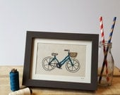 Freehand Machine Embroidery and Applique Bicycle Stitched Picture