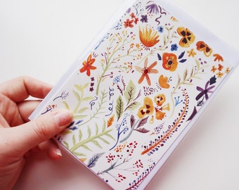 Painted Floral Greeting Card