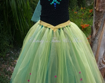 Princess Anna Coronation dress/Anna dress /Anna tutu dress /princess Anna costume/Anna from frozen/coronation dress/frozen coronation dress