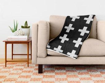 Swiss Cross throw blanket