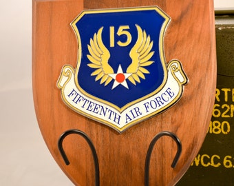 15th Air Force Plaque - 15AF Militaria - Air Force Collectible