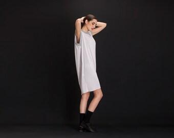 Sleeveless Dress , Summer Day Dress , Light Grey Tunic Dress , Oversize Dress , Tank Dress