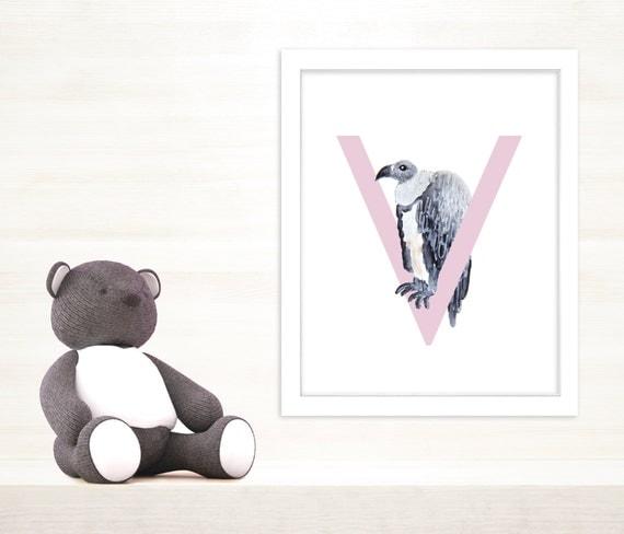 Wall Decor Letter V : V letter art the vulture wall letters nursery