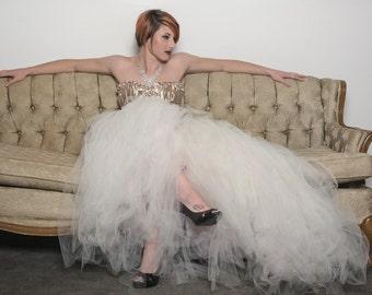 Ivory Wedding Dress  - Tulle Dress - Full Skirt - Gown - Bridesmaid - Ivory Dress - Ivory Tulle Skirt - Ivory Dress - Tutu Dress -Tulle Gown