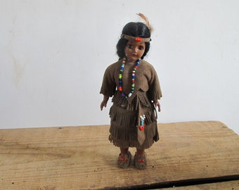 vintage Indian Native American doll by Carlson