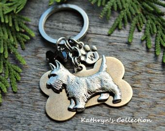 Scottish Terrier Key Chain, Scottie Key Chain, Scotty Dog, Scottie Gift, Dog Key Chain
