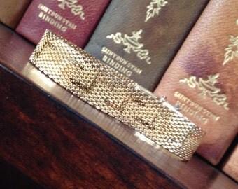 Vintage Woven Gold Tone Bracelet