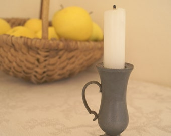 Silver coloured Candleholder