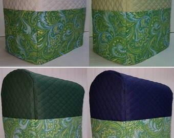 Green Blue Paisley Cover for Sunbeam Heritage Series 4.6qt Mixmaster Stand Mixer w/Pockets (5 Options Available)