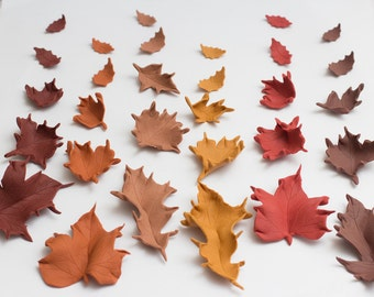 Fondant Fall leaves - See shipping section below for turnaround time