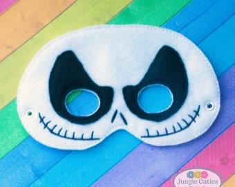 Skeleton Mask (M002), Children's Mask for Dress-Up, Party Favors