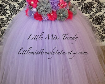 Lilac Flower Girl Dress, Lilac Flowe Girl Tutu Dress, Light Purple Tutu Dress, Flower Girl Tutu Dress, Lilac Flower Girl Dress, Tutu Dress