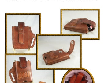 Smart Phone Holster pattern for leather- leathercraft pattern - PDF ONLY