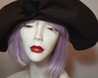 FREE  SHIPPING    1940 LaRgE  bRim  haT