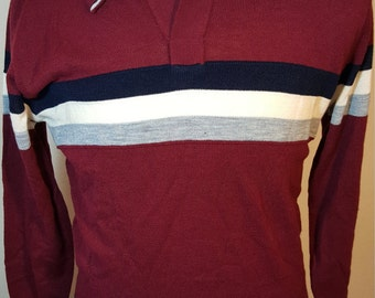 FREE  SHIPPING  Vintage 1970 Men Acrylic Pullover