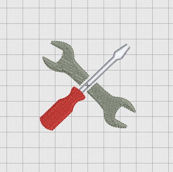 Wrench Embroidery Design