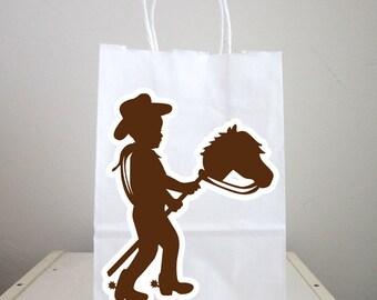Cowboy Goody Bags, Cowboy Favor Bags, Cowboy Goodie Bags, Cowboy Party Bags
