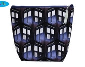 Knitting Bag | Project Bag | Project Knitting Bag | Yarn Bag |  Zippered Project Bag | Doctor Who Bag | TARDIS Bag | Medium Wedge Bag