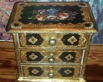 Florentia Italy Florentine Drawered Jewelry Box