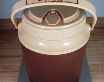 Vintage Gott Thermos Jug, Chocolate Brown & Tan, Gott Picnic Jug, Cooler Jug, Water Cooler, Camping Jug, Beverage Jug, Old Thermos Jug