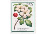1998 32c Flowering Trees - Pacific Dogwood Tree - 5 Unused US Postage Stamps - Item No. 3197