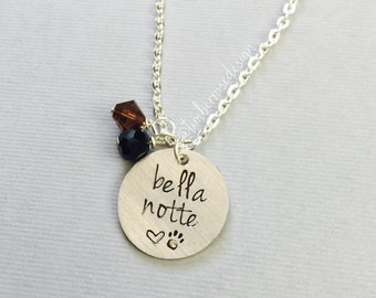 Disney's Lady and the Tramp Inspired Necklace.